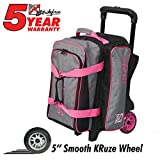 KR Strikeforce Krush Double Roller Bowling Bag, Stone/Pink