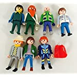 8 piece Playmobil Geobra Collectible Toys Random mix of 7 People Figures
