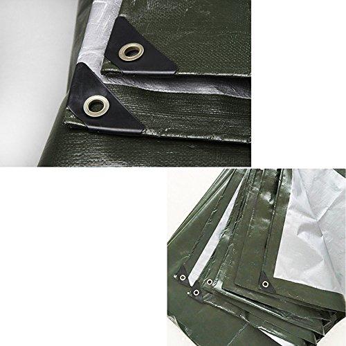 Tarpaulin Tarpaulin - Polyethylene Thickening Waterproof Sun Resistant Because Truck Outdoor Awning 180g/m², 22 Sizes, ArmyGreen (Size : 1.5X2m) by Hw Ⓡ Tarpaulin (Image #2)