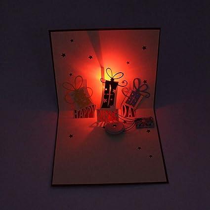 Amazon JUSTDOLIFE Christmas Greeting Cards LED