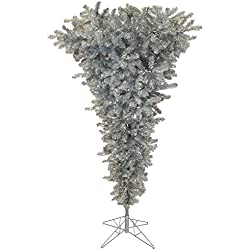 Vickerman 9' Green Upside Down Artificial Christmas Tree with 1000 Clear lights