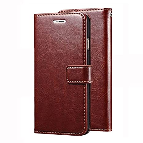 nkarta Leather Wallet Flip Case for Honor 8 Pro  Brown  Mobile Phone Cases   Covers