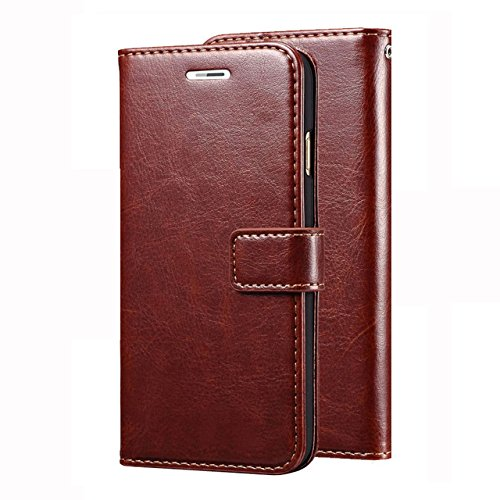 nKarta Vintage PU Leather Wallet Book Cover Case for Sony Xperia C4 / C4 Dual   Brown
