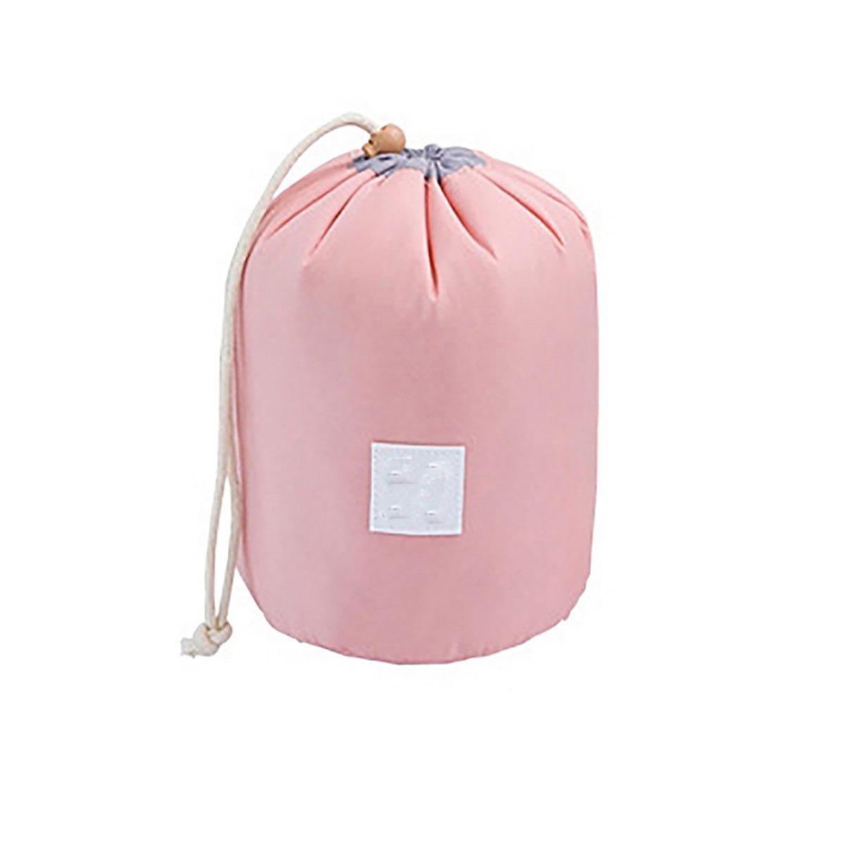 Red Pink Korean Packing Elegant Portable Large Capacity With Cylinder Cosmetic Bag Storage Makeup Drawstring Bag Backpack 23cmx17cm-1 FANSI