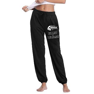 275562e6c72 Amazon.com  Fillet and Release Women s Popular Jogger Pants Light 100%  Cotton Sweatpants  Clothing