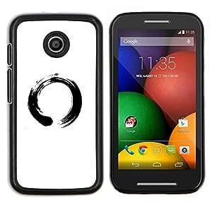 Símbolo chino del Círculo- Metal de aluminio y de plástico duro Caja del teléfono - Negro - Motorola Moto E / XT1021 / XT1022