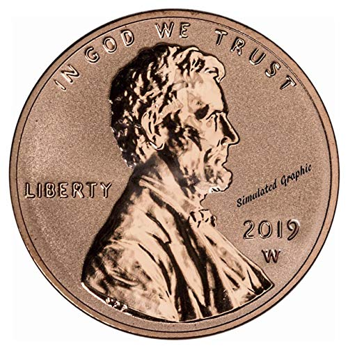 (2019 W Lincoln Shield 2019 W Lincoln Shield Reverse Proof Penny Proof US Mint DCAM)