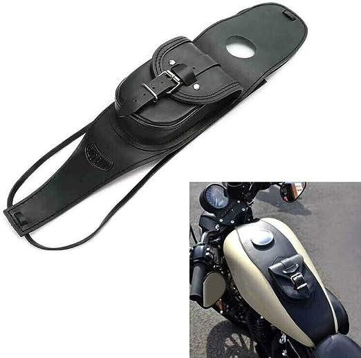 Housesweet Tankabdeckung Aus Leder Wasserdicht Für Motorrad Gastank Für Harley Garten