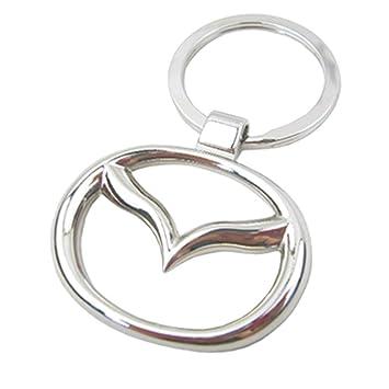 Mazda logotipo de coche Llavero Llavero metal cromado ...