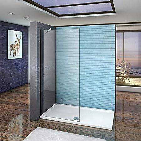 Mamparas de ducha Frontales Puerta fijo Cristal 5mm Antical Barra 70-120cm 80x190cm