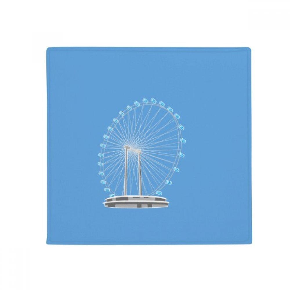 DIYthinker Singapore Ferris Wheel Anti-Slip Floor Pet Mat Square Home Kitchen Door 80Cm Gift
