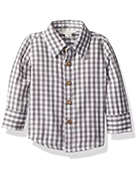 Burt's Bees Baby Baby-Boys Baby Boys Gingham Button Front Shirt