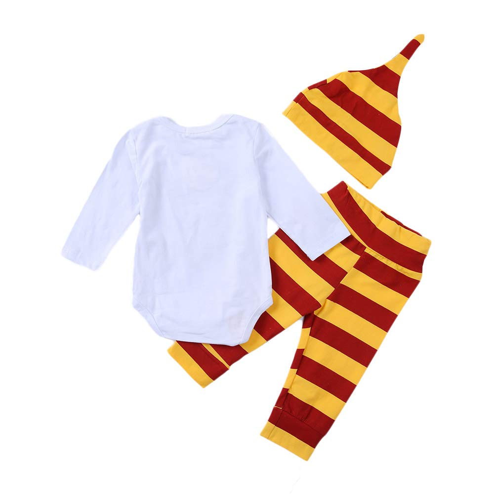 3pcs Infant Letter Printed Onesies Pants Hat Outfits Set Baby Boys Snuggle This Muggle Romper Stripes Pants Clothes