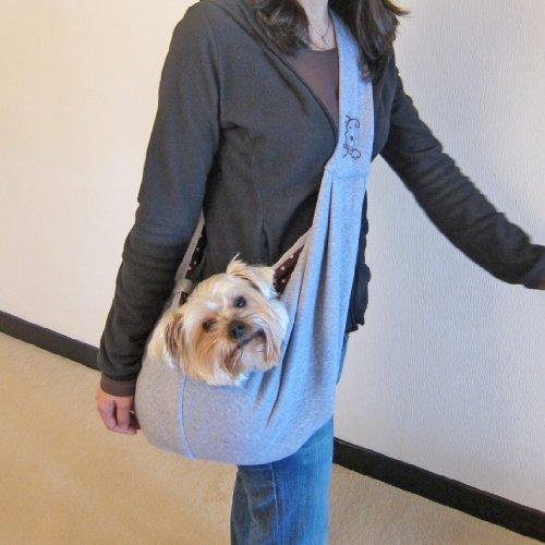 Alfie Couture Designer Pet Accessory – Chico Reversible Pet Sling Carrier – Color: Grey, My Pet Supplies