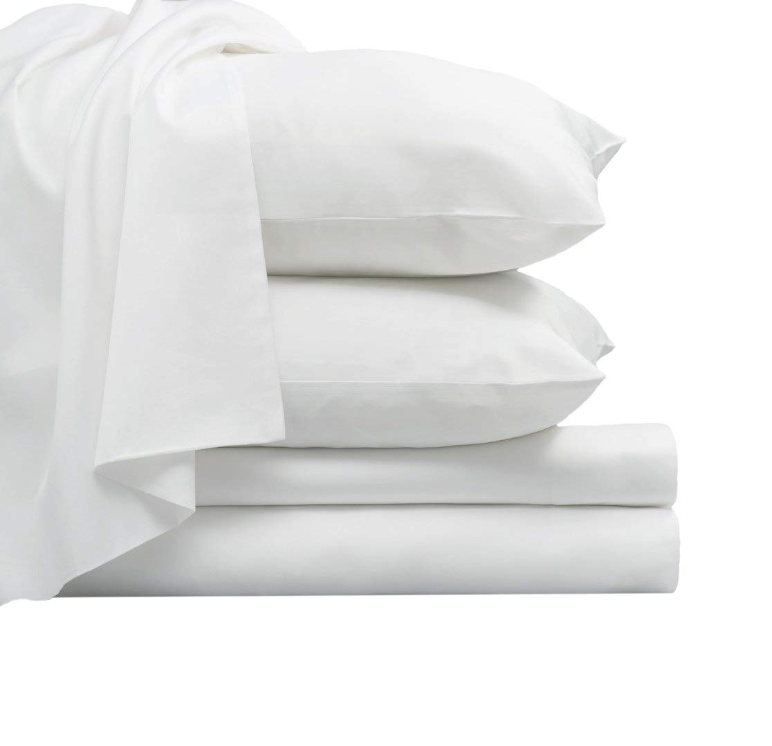 Luxurious 800 Thread Count Cotton Queen Sheets Set White, 100% Long Staple Cotton Smooth Sateen Bed Sheets, High Thread Count Sheets fit Upto 17'' Deep Pockets (White Queen 100% Cotton Sheet Sets) by Pizuna (Image #2)