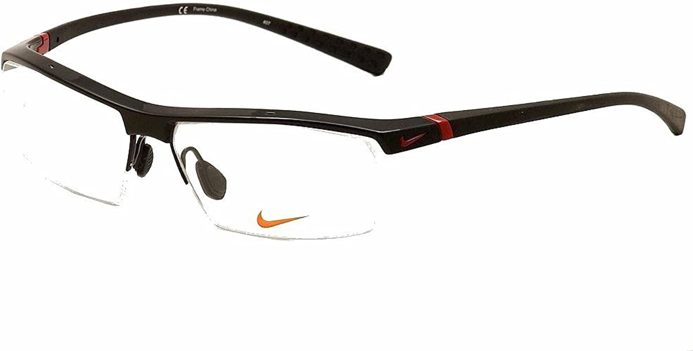 76ca90cbbeea Amazon.com: Nike Eyeglasses 7071/1 002 Gloss Black Optical Frame ...