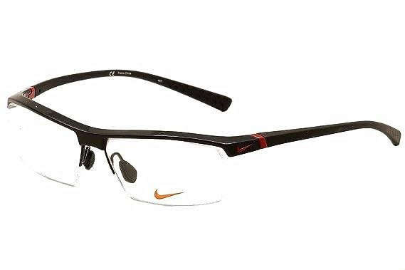 Amazon.com: Nike Eyeglasses 7071/1 002 Gloss Black Optical Frame ...