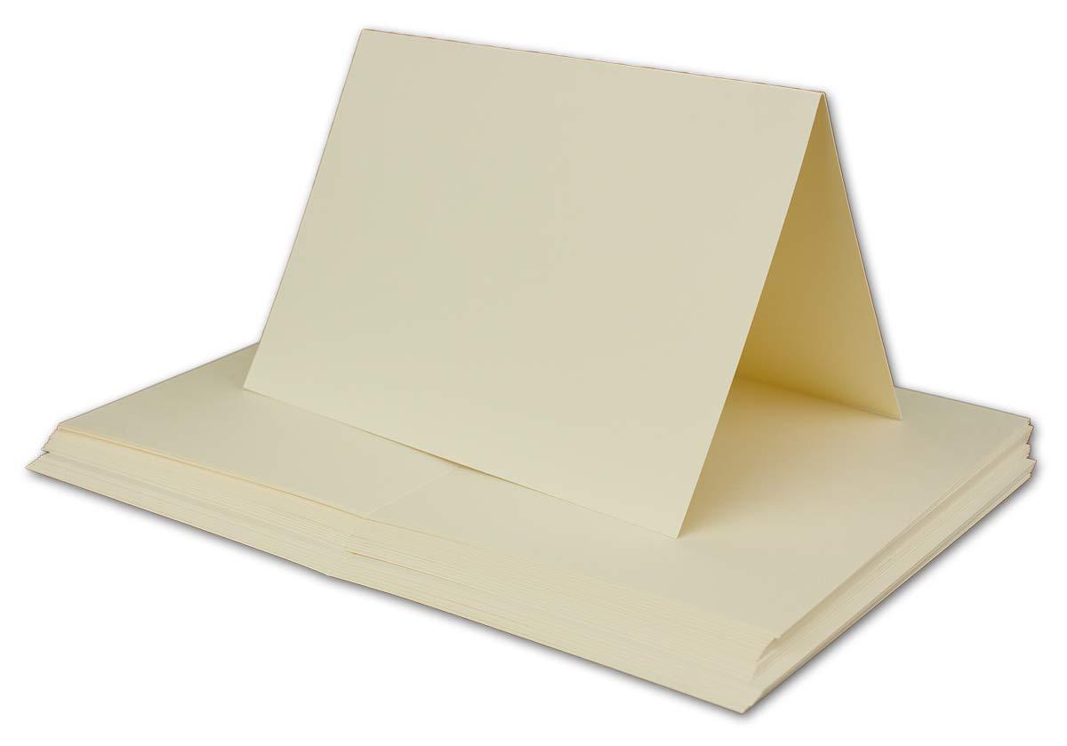 DIN A6-240 g//m/² 60 Teile 30 Falt-Karten Sets Weiss /& Creme mit Brief-Umschl/ägen DIN C6-120 g//m/² Nassklebung Gl/üxx-Agent