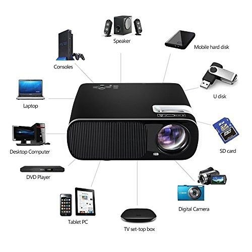 Ogima projector ogima home cinema theater led1080p hd for Hd projector reviews