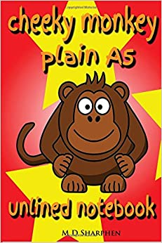 Cheeky Monkey Plain A5 Unlined Notebook