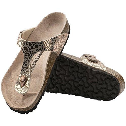 Birkenstock Womens Gizeh Birko-Flor Sandals Metallic Stones Copper naxPvqP