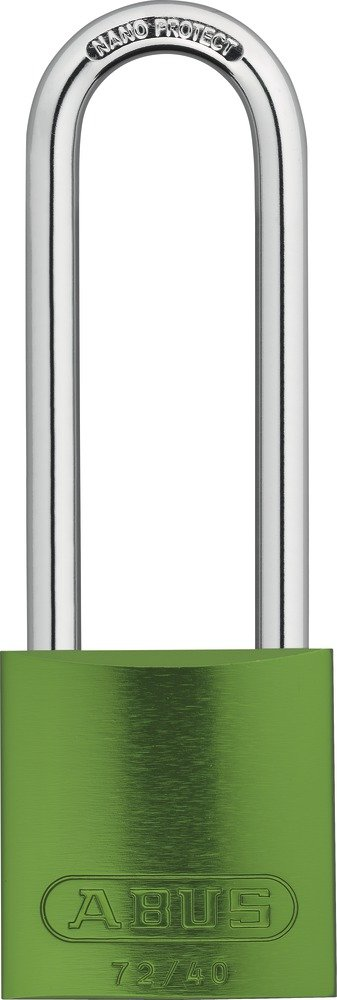ABUS 72HB/40-75 KD Safety Lockout Aluminum Keyed Different Padlock with 3-Inch Shackle, Green