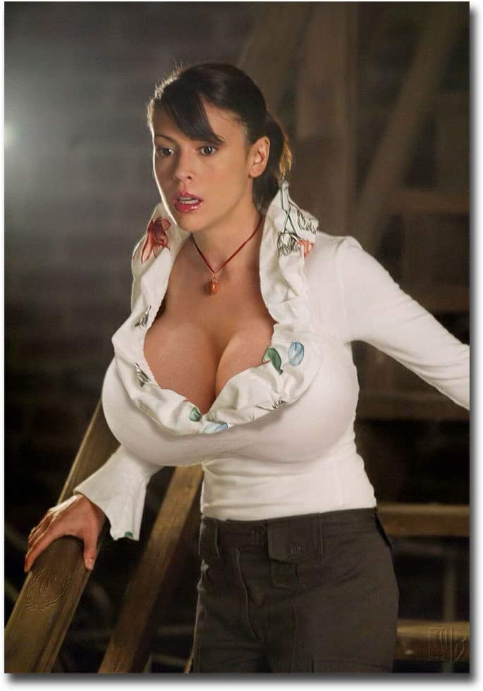 "Alyssa Milano Charmed Large Boobs Refrigerator Magnet Size 2.5"" x 3.5"""