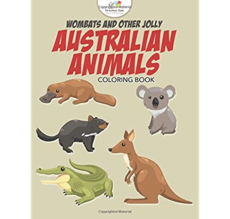 - Wombats And Other Jolly Australian Animals Coloring Book: Kids, Kreative:  9781683775270: Amazon.com: Books