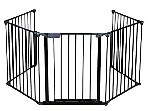 Fireplace Fence Baby Safety Fire Gate For Kids Pellet Stove Child Toddler BBQ Fence Hearth Gate For Babies Guard With Gate Assembled from famous LuxFox
