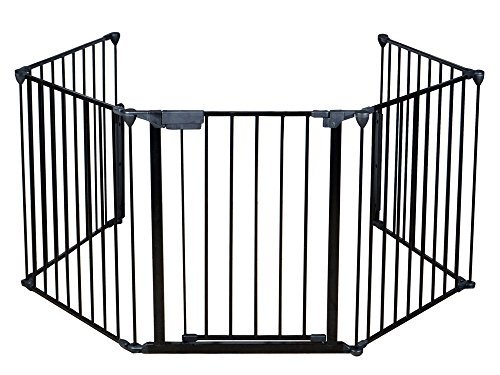Fireplace Fence Baby Safety Fire Gate For Kids Pellet Stove Child Toddler BBQ Fence Hearth Gate For Babies Guard With Gate Assembled