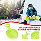 Kids Snow Sled with Handles, Outdoor Winter