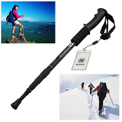 Duhud Retractable Walking Stick Trekking Poles Outdoor Sports Adjustable Hiking Walking poles Antishock Climbing Sticks 2 Pack