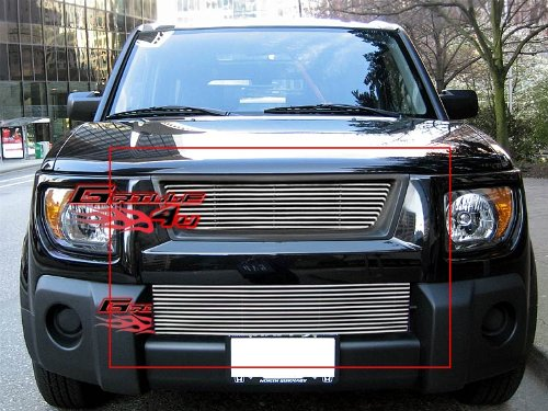 APS Compatible with 2003-2006 Honda Element Billet Grille Combo RE-H87988A