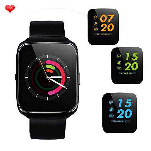 Smart Band with activity tracker and fitness tracker. Waterproof Smart watch as Sports Bracelet with colorful display to connect with Android/iOS phones by bluetooth. Heartrate, blood pressure
