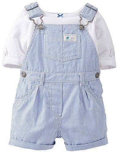 888510427315 - Carter's Baby Girls' 2-Piece Cotton Top & Shortalls Set- 9 Months carousel main 0