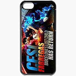 Personalized iPhone 5C Cell phone Case/Cover Skin 2013 unique cesc fabregas barcelona Black