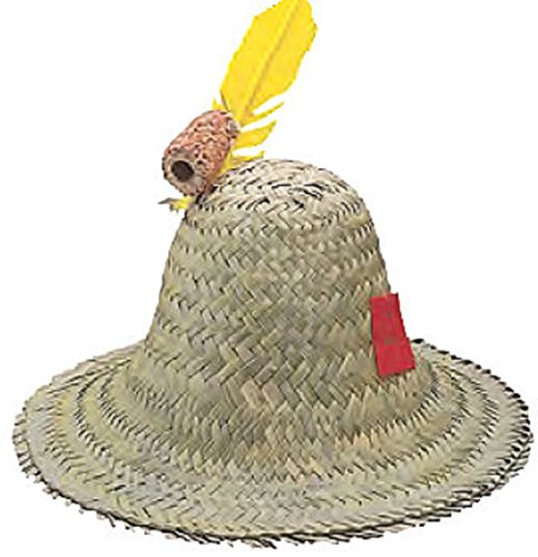 Adult Hillbilly Farmer Pilgrim Mexican Straw Hat Costume Accessory]()