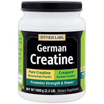 Fitness Labs Creapure German Creatine Powder, 200 Servings, 1000 Grams