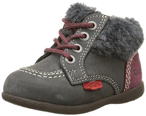 Kickers Unisex Baby Lauflernschuhe Grau (gris/violet)