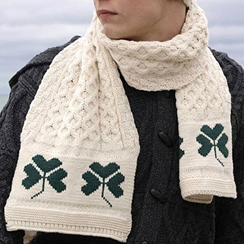 Shamrock Wool Scarf, 100% Irish Wool, One Size Fits All