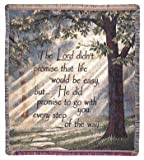 """Every Step of the Way"" Inspirational Tapestry Throw Blanket 50"" x 60"""