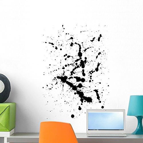 Wallmonkeys Ink Splat Wall Decal Peel and Stick Graphic WM22737 (24 in H x 19 in W)