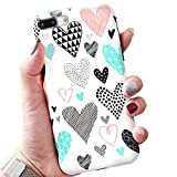 Software : BOFTALE Cute Case for iPhone 7 Plus iPhone 8 Plus, Girls Women Pretty Case with Love-Hearts Pattern Design Slim Soft Protective Phone Case Cover Compatible with iPhone 7 Plus iPhone 8 Plus (White)