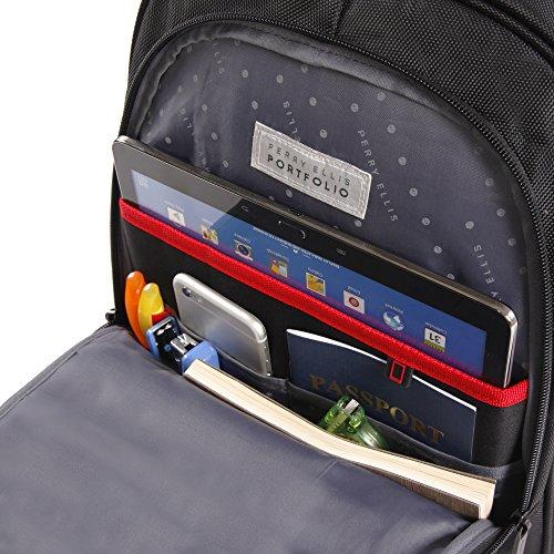 51ffGXwvMTL - Perry Ellis M160 Business Laptop Backpack, Black