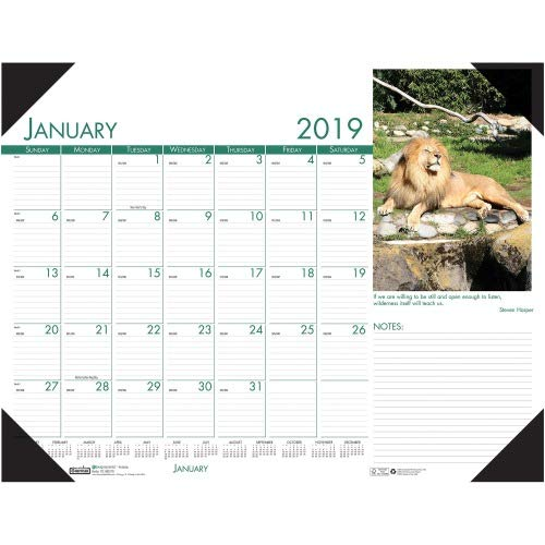Wildlife Desk Pad Calendar - House of Doolittle Earthscapes Wildlife Compact Desk Pad Calendar 12 Months January 2014 to December 2014, 22 x 17 Inches, Recycled (HOD172)
