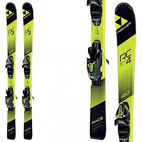Ski Binding Jr (Fischer RC4 Race Jr. Skis + FJ AC Bindings - 2018 (130))