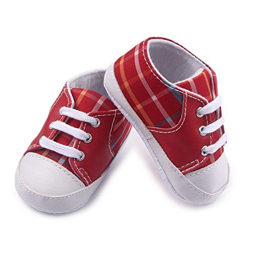 leap frog  Checkered Sneaker, Baby Jungen Lauflernschuhe Rot