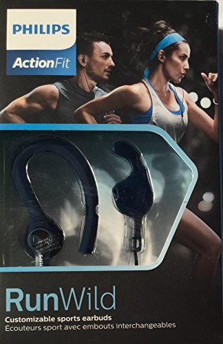 (Philips ActionFit RunWild Navy Blue Sports Earbuds)