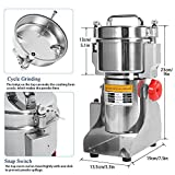 NEWTRY 700g Electric Grain Grinder Spice Mill 2400W Stainless Steel High-speed Food Mill Herb Grinder pulverizer For Chinese Medicinal Materials Flavoring 110V