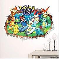 Etiqueta De La Pared 3D Pokemon Ir A